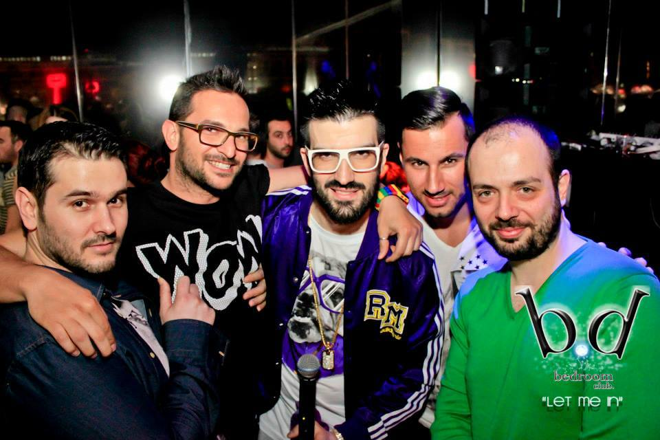 DJ Chris k with Peter D from MASTER TEMPO, DJ Ilias Mpantis and DJ DImitris Patsis